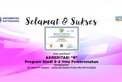 Predikat Akreditasi S2 Magister Ilmu Pemerintahan